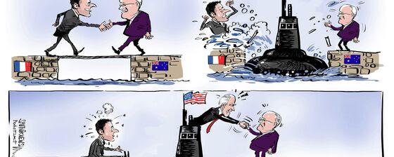 Los submarinos estadounidenses irrumpen entre Francia y Australia