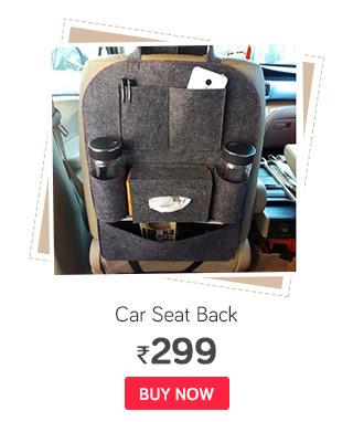VRT Multi Pocket Black Organizer for Car Seat Back