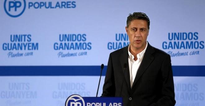 El candidato del PPC a la Presidencia de la Generalitat, Xavier Garcia Albiol, valora los resultados de la elecciones catalanas./ EFE