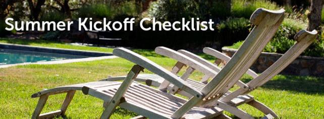 Summer Kickoff Checklist