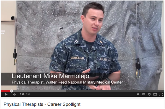 Lt. Mike Marmolejo, Physical Therapist, Walter Reed National Military Medical Center
