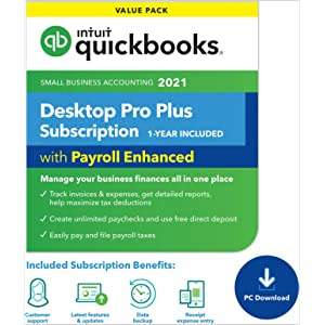 QuickBooks Desktop Pro Plus with Enhanced Payroll 2021