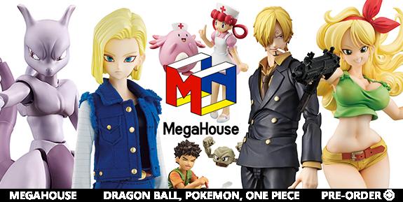 NEW MEGAHOUSE: DRAGON BALL, POKEMON, ONE PIECE