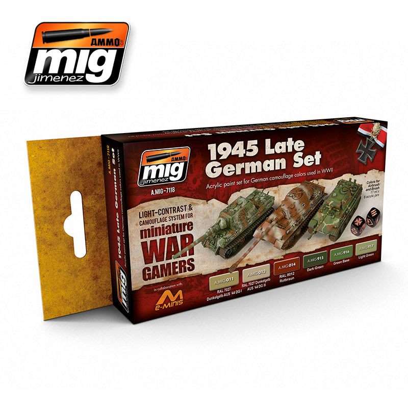 A.MIG-7118 WARGAME 1945 LATE GERMAN SET