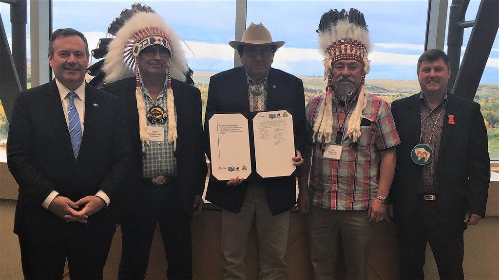Alberta and Blackfoot Confederacy renew agreement