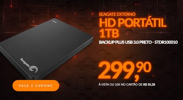 HD Seagate Externo Portátil Backup Plus USB