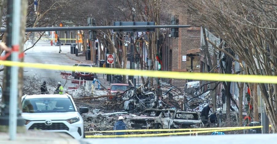 Nashville Police Officer Says God Told Him to Walk Away from RV Moments before it Exploded 17388-nashville-explosion-getty-images-terry-wyatt-