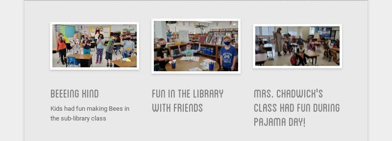 beeeing kind                         Kids had fun making Bees in the sub-library class                         fun in the library with...