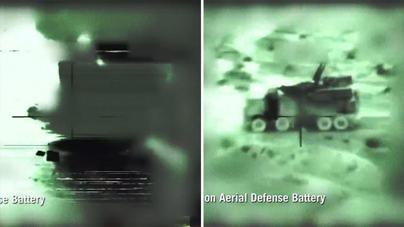 Israel publica un video de su ataque contra baterías de defensa aérea de Siria