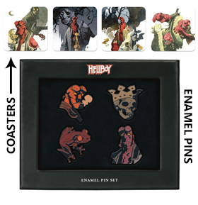HELLBOY COASTER & ENAMEL SETS