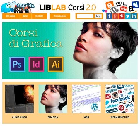 Formazione e lavoro liblab formazione riprende i corsi for Corsi grafica pubblicitaria milano