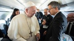 El Papa Francisco y Paolo Ruffini, Prefecto del Dicastero per la Comunicación