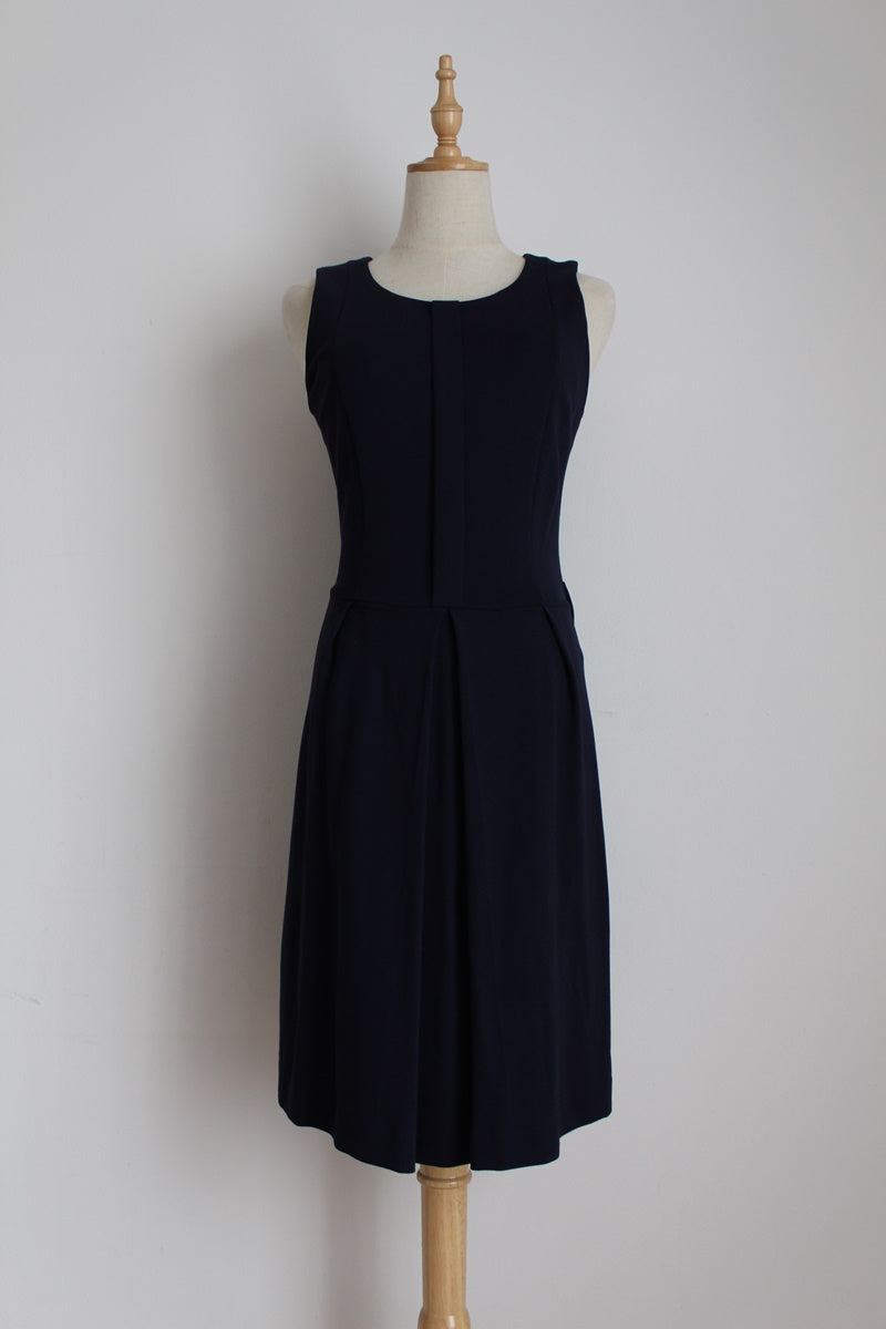 MANGO SUIT NAVY FITTED DRESS - SIZE 8