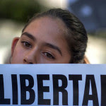 Fatima Avelica, 13, daughter of Romulo Avelica-Gonzalez, attends a rally for his release outside Immigration and Customs Enforcement offices March 13, 2017, in Los Angeles. Her father is mentioned in the Slate piece. Photo: David McNew/Getty Images)