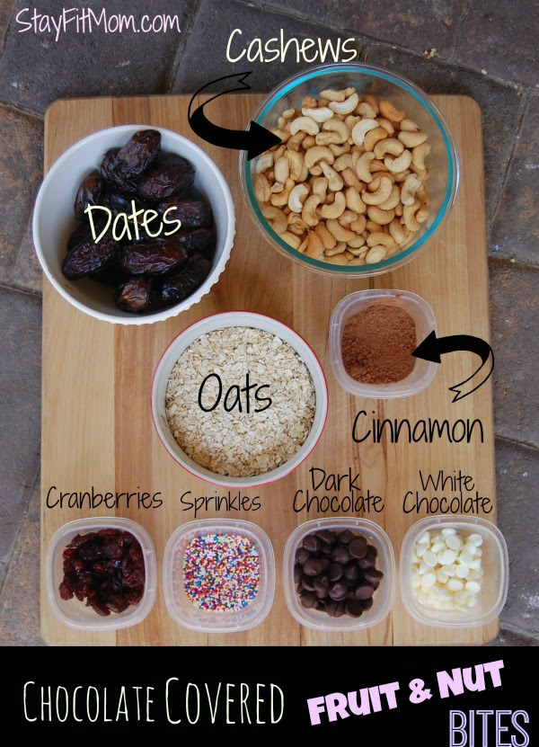 Healthy, kid-friendly & FUN fruit and nut Bites!