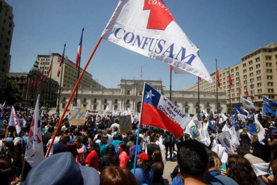 Chile: Trabajadores públicos realizan huelga de 48 horas