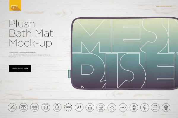 Plush Bath Mat Mock-up