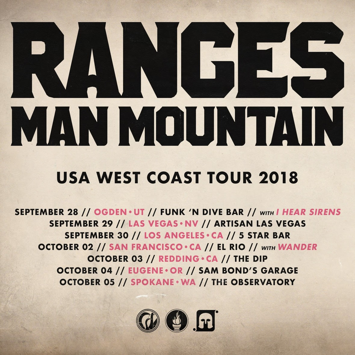 man mountain ranges tour