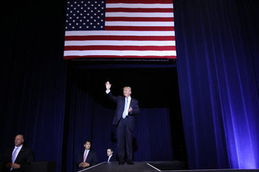 Donald J. Trump before his speech on immigration in Phoenix on Wednesday.