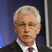 Secretary of Defense Chuck Hagel at the NATO headquarters in Brussels on Thursday.