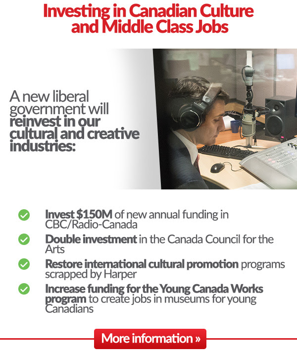 INVESTING IN CANADIAN CULTURE AND MIDDLE CLASS JOBS