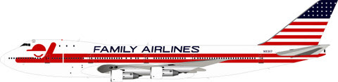 Boeing 747-100 Family Airlines N93117 (with stand) | is due: June 2019