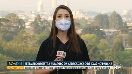 Paraná registrou em setembro aumento da arrecadação do ICMS
