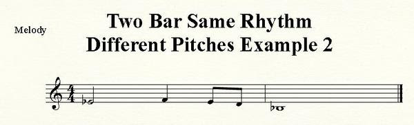 Two Bar Retrograde Inversion with Reversed Rhythm