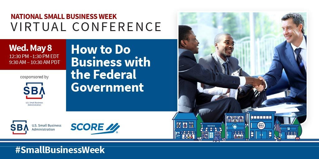NSBW Virtual Conference webinar, How to Do Business with the Federal Government on May eighth at twelve-thirty pm eastern standard time