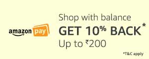 Get 10%* cashback with Amazon Pay