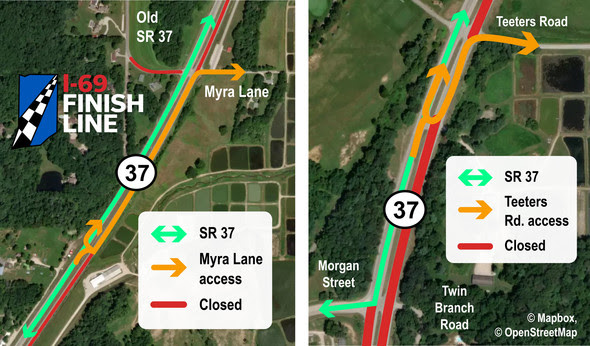 Myra Lane and Teeters Road access maps