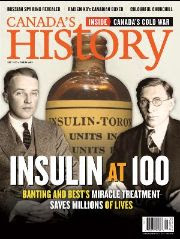 Cover of the February-March 2021 issue featuring Banting and Best.