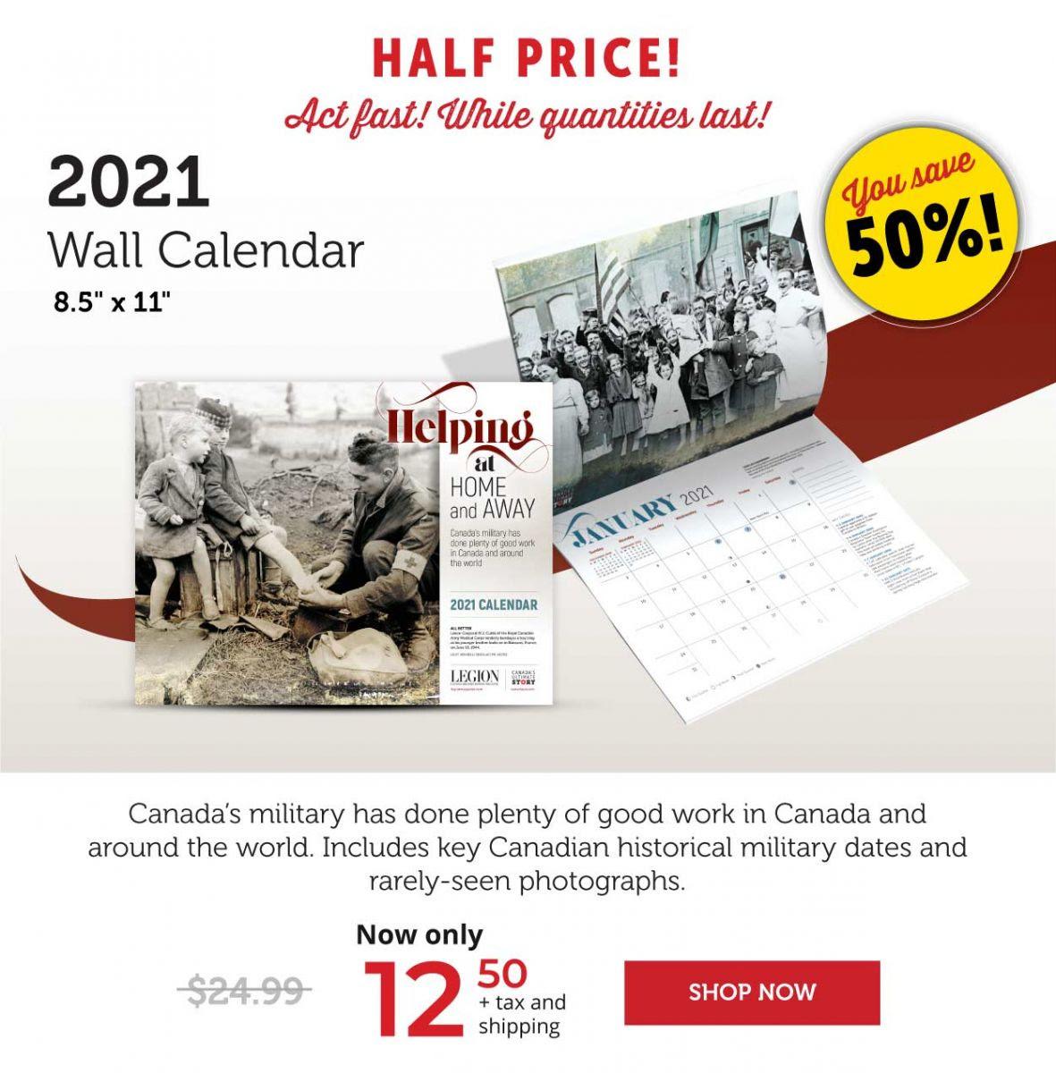 50% OFF – 2021 Wall Calendars!