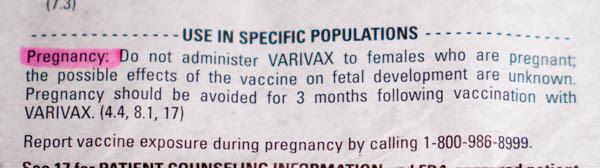 Varivax Vaccine Insert 5 - vacunas preguntas que nunca te permitirán realizar