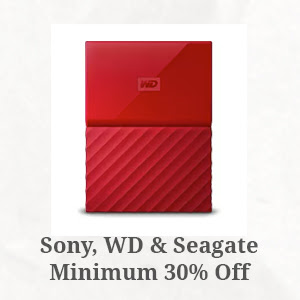 Sony, WD and Seagate Minimum 30% Off