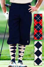 Executive Navy Knicker, knickerbocker and argyle sock set.