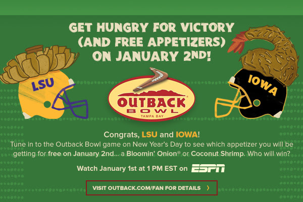 Free Appetizer from Outback!