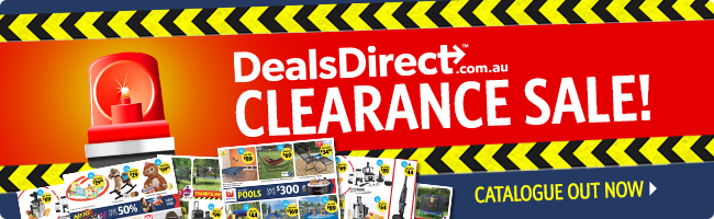 Clearance sale catalogue out now, on selected furniture, lights, kitchenware, and more at DealsDirect.com.au