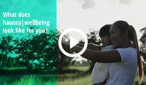 Wellbeing video screenshot and play button