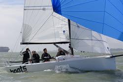 J/70 sailing Warsash Spring series