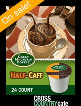 Green Mountain Half Caff Keurig Kcup coffee