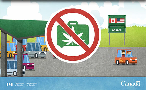 It is legal to travel within Canada with up to 30 grams of dried, legally purchased cannabis, but it is illegal to enter or exit Canada with cannabis in your possession.