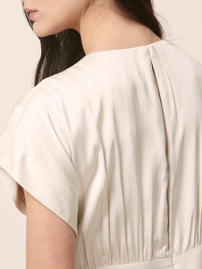SHIV DRESS IVORY. Back side