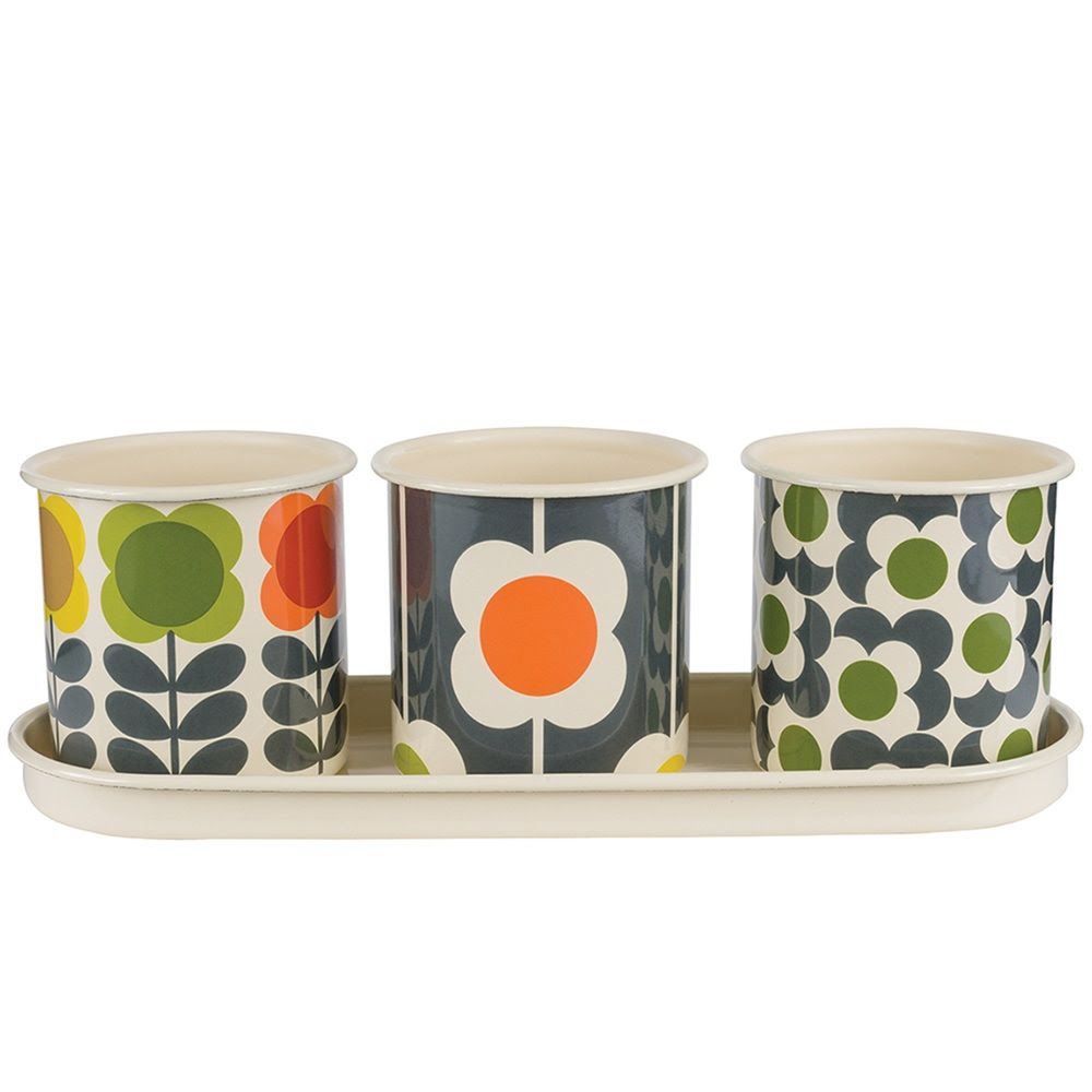 ORLA KIELYSET OF 3 Herb Pots, gardening offer absolute home
