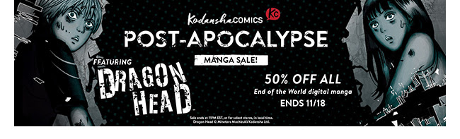 Kodansha Post-Apocalyptic Sale Sale: up to 50% off! | Ends 11/18