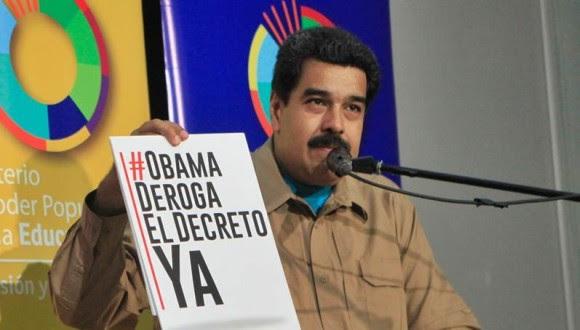 Nicolás Maduro. Decreto contra Venezuela