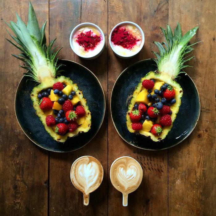 Симметричные завтраки перфекциониста  завтрак, симетрия