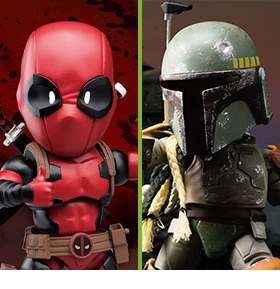 BEAST KINGDOM EGG ATTACK ACTION DEADPOOL & BOBA FETT