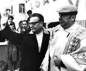 Salvador Allende y Pablo Neruda.