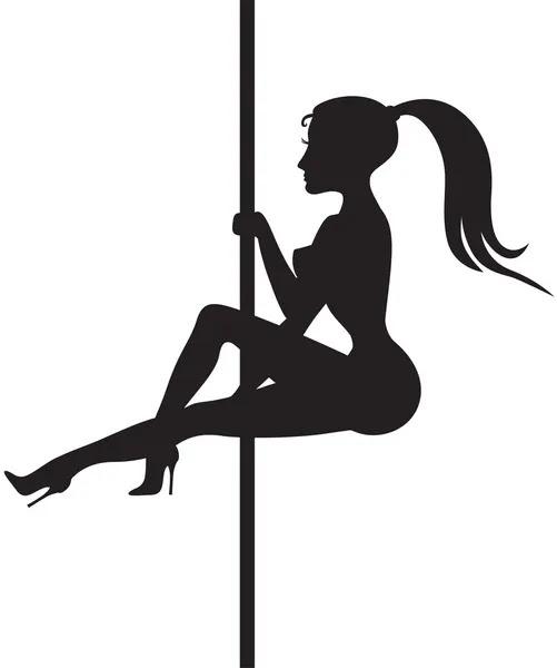Стриптиз танцор силуэт — стоковый вектор #30628903